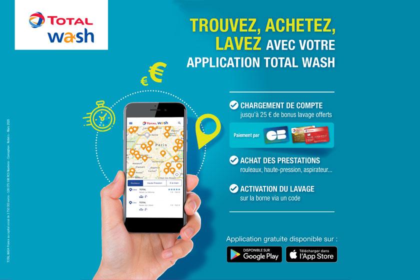 Modalités de l'offre application TOTAL WASH en station