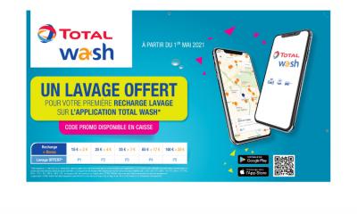 Un lavage auto offert sur l'application TOTAL WASH !