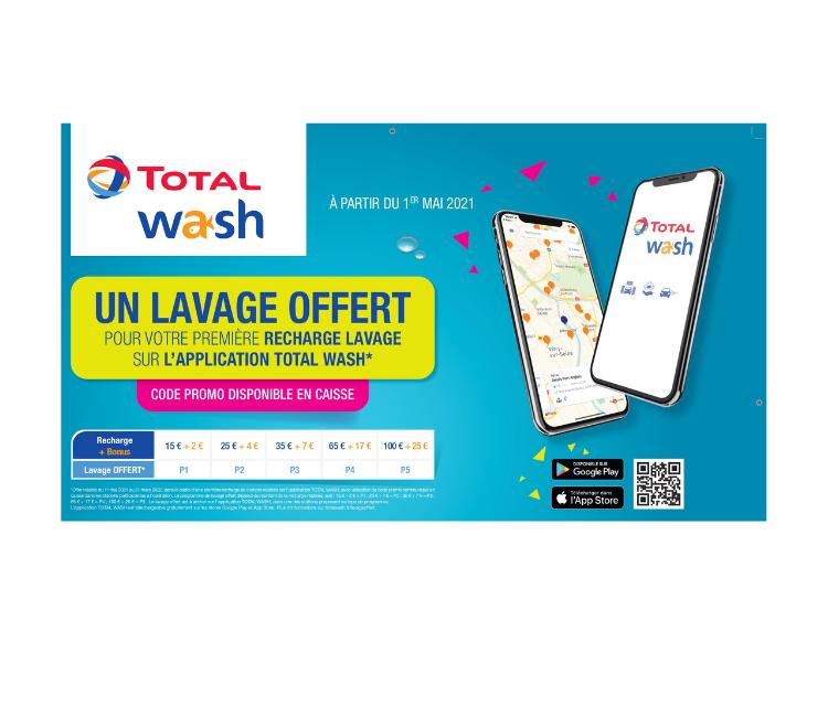 Un lavage auto offert sur l'application Wash !